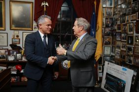 "Vlad Plahotniuc at the meeting with the US congressmen: ""We shall continue implementing reforms and we shall keep going westward"""