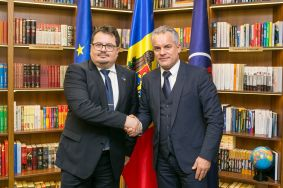 PDM leader, Vlad Plahotniuc hold a meeting with Peter Michalko, EU Ambassador