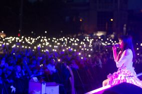 Grand concert held for May 9 in Chisinau. Over 50 000 people came to the event
