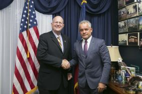 "Vlad Plahotniuc, at the meeting with the American Congressman Ted Poe: ""DPM assumes to maintain the Moldova's western-oriented course"""